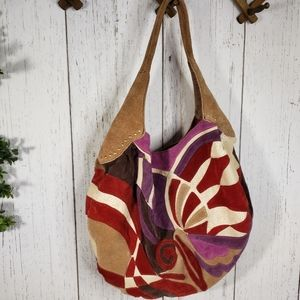 Lucky Brand colorful leather hobo bag